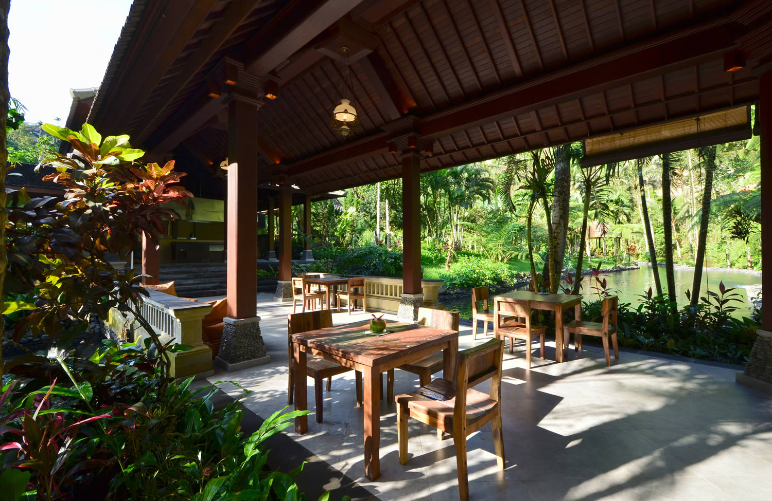 ayung garden restaurant with view